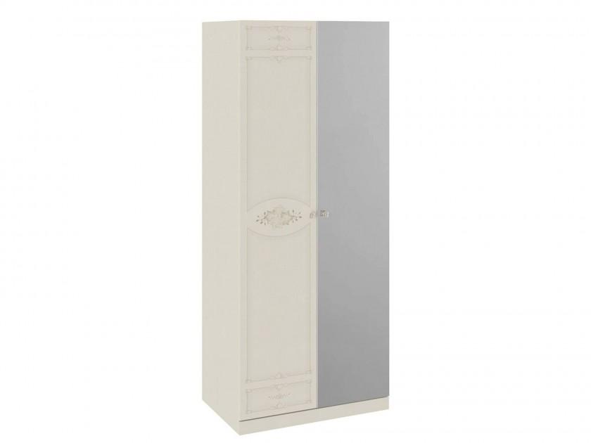 распашной шкаф Шкаф для одежды с 1 глухой и 1 зеркальной дверями Лорена Лорена