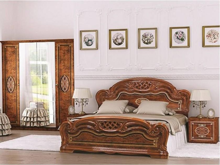 спальный гарнитур Спальня Лара 2 Лара в цвете Орех мастеровой с сост эргономика квартиры ч 2 спальня кабинет гардеробная