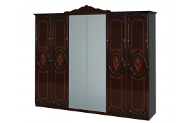 Распашной шкаф Шкаф 6-ти дверный Роза