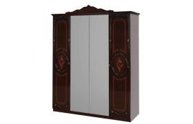 Распашной шкаф Шкаф 4-х дверный Роза