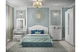 Спальный гарнитур Ассоль в цвете Белый