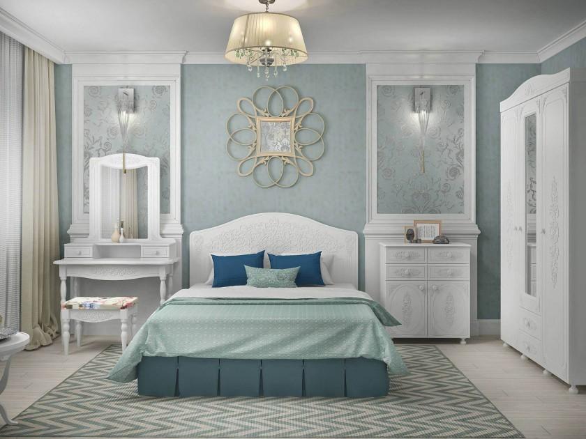 спальный гарнитур Спальня Ассоль Ассоль в цвете Белый