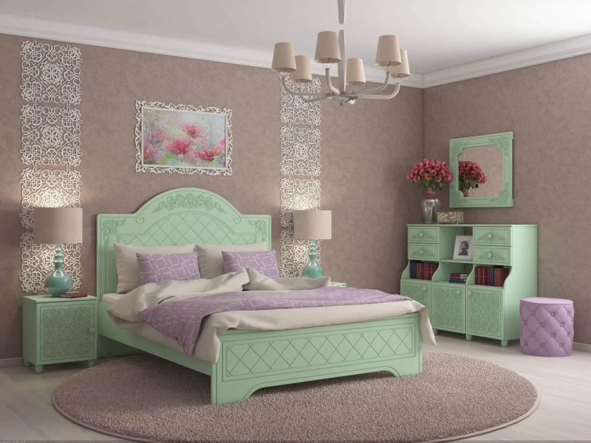 спальный гарнитур Спальня Соня Соня в цвете Мята Шагрень