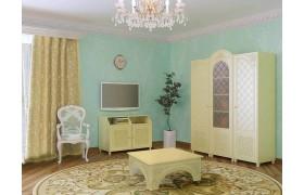 Гостиная Соня в цвете Ваниль Шагрень