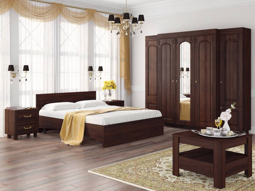 спальный гарнитур Спальня Элизабет Элизабет в цвете Орех Темный