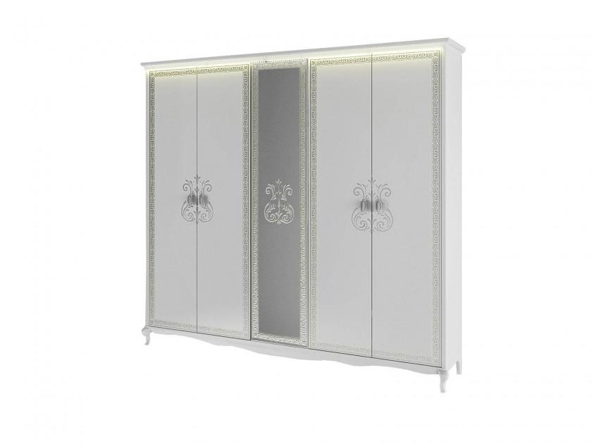 распашной шкаф Шкаф 5-ти дверный Винтаж Винтаж в цвете Белый глянец