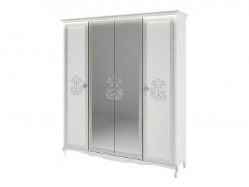 Распашной шкаф Винтаж в цвете Белый глянец
