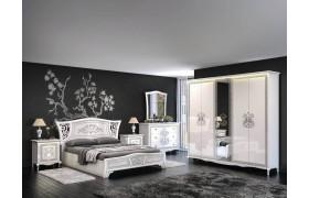 Спальный гарнитур Винтаж в цвете Белый глянец