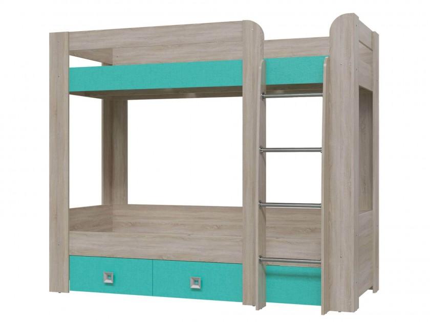 кровать Кровать 2-х ярусная с двумя ящиками Сити (80х200) Сити