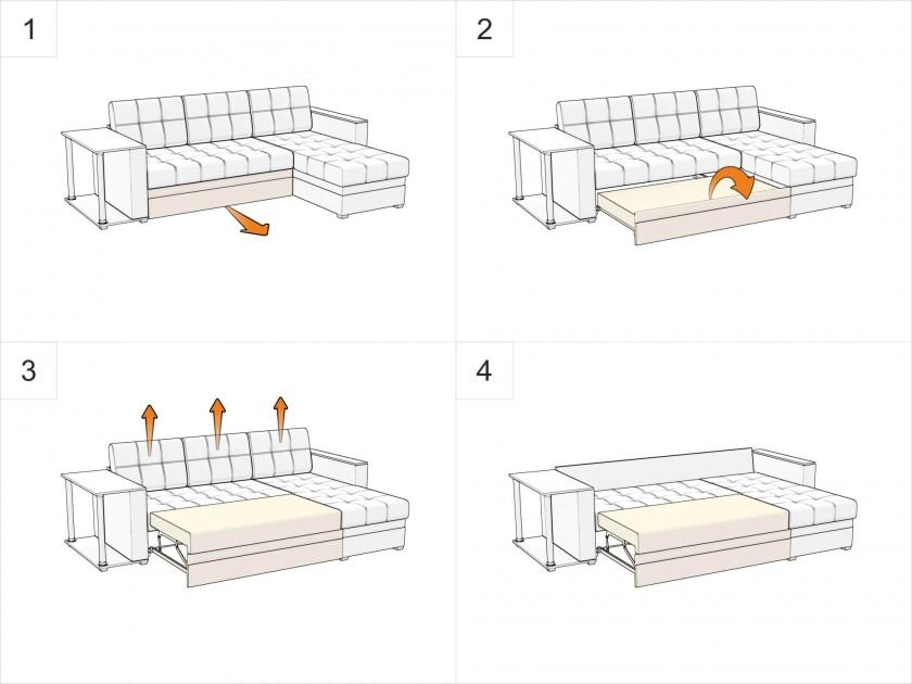 Кухонный уголок Кухонный угловой диван Токио Левый