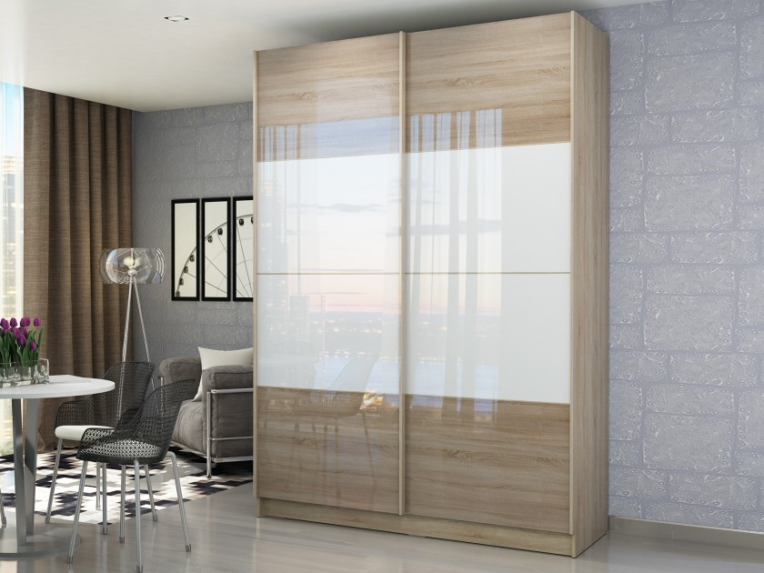 Шкафы-купе для спальни глянцевые