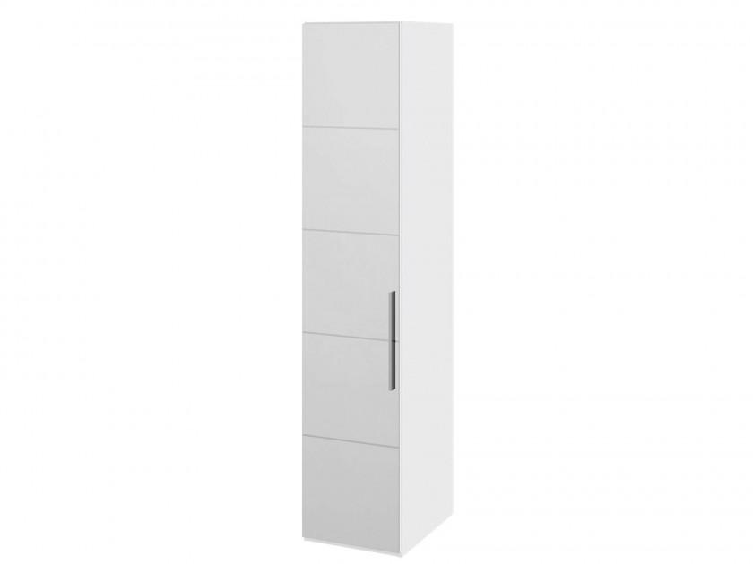 распашной шкаф Шкаф для белья с 1 дверью с зеркалом L Наоми Наоми в цвете Белый глянец