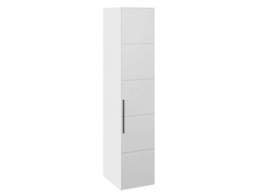 распашной шкаф Шкаф для белья с 1 дверью с зеркалом R Наоми Наоми в цвете Белый глянец
