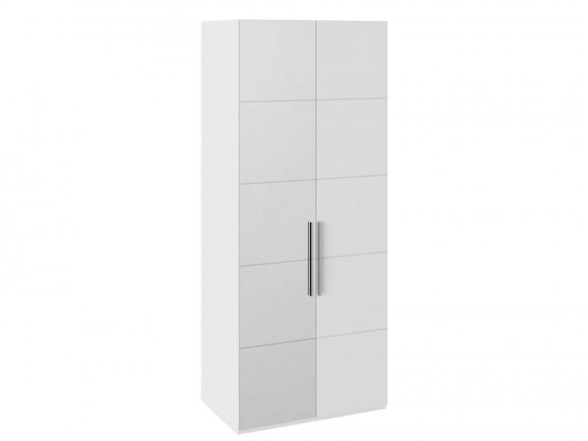распашной шкаф Шкаф для одежды с 2 дверями Наоми Наоми в цвете Белый глянец