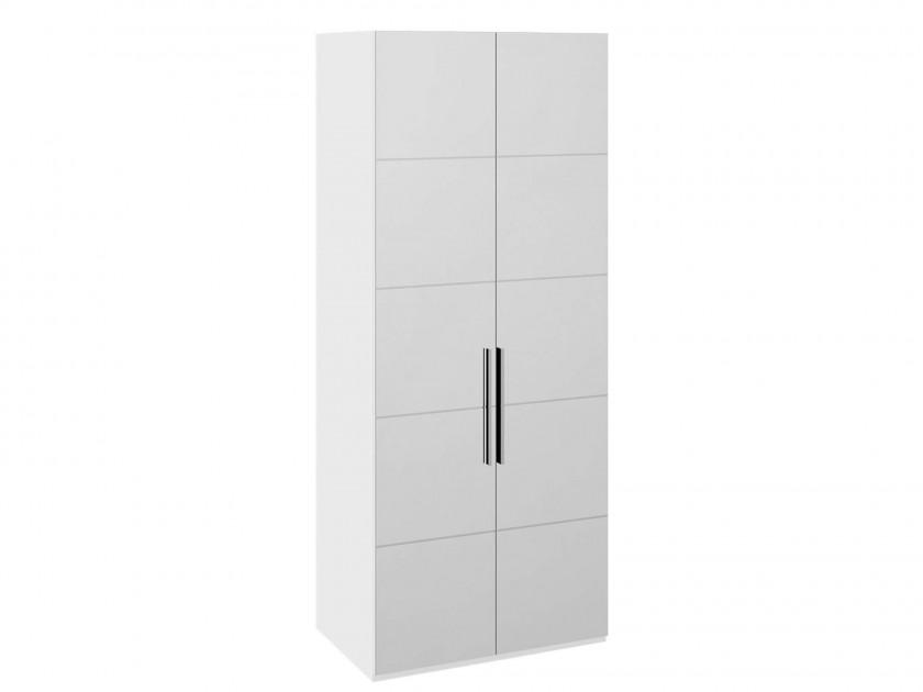 Шкаф для одежды с 2 дверями Наоми Наоми в цвете Белый глянец шкаф для одежды с 2 мя зеркальными дверями ривьера белый мдф