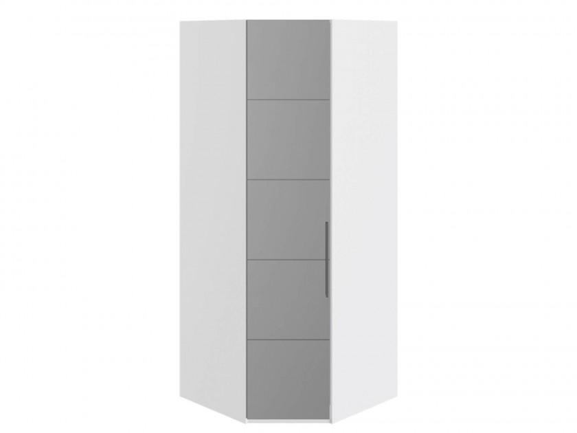 Фото - распашной шкаф Шкаф угловой с 1 зеркальной дверью L Наоми Наоми в цвете Белый глянец шкаф для белья с 1 зеркальной дверью прованс правый