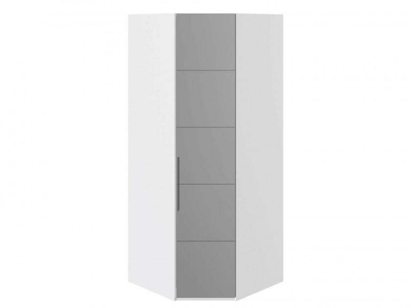Фото - распашной шкаф Шкаф угловой с 1 зеркальной дверью R Наоми Наоми в цвете Белый глянец шкаф для белья с 1 зеркальной дверью прованс правый