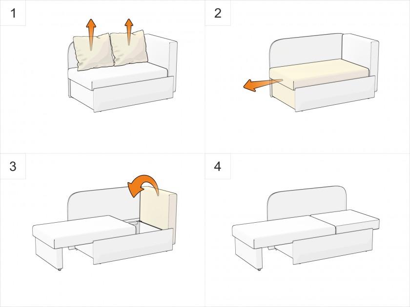 Кровать мягкая Скала