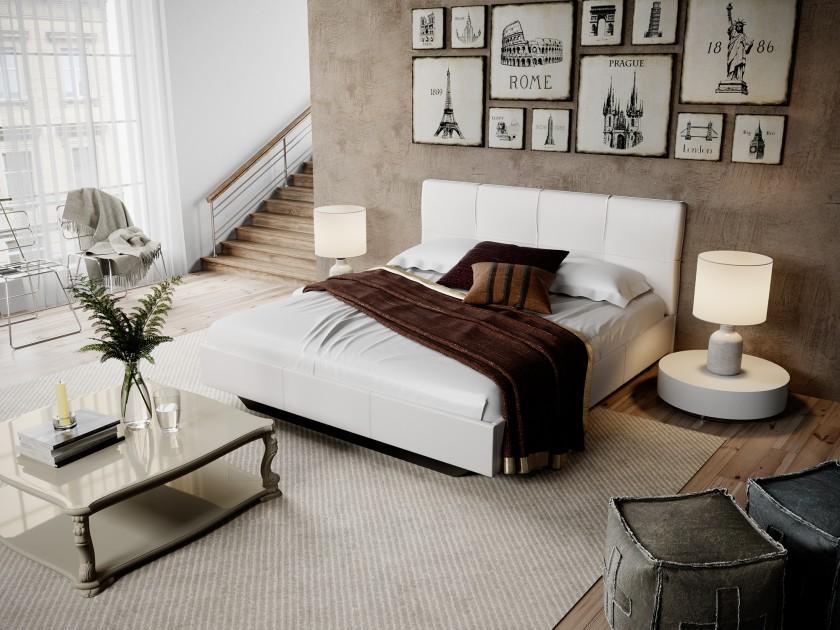 цена на кровать Кровать c мягкой обивкой Элис (160х200) Элис