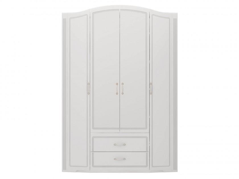 распашной шкаф Шкаф для одежды 4-х дв. с ящиками Виктория Виктория fu1 01 cg шкаф 4 дв 1 2 1 шатура flash светлый