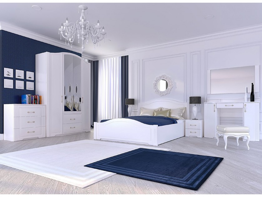 Спальни белый глянец