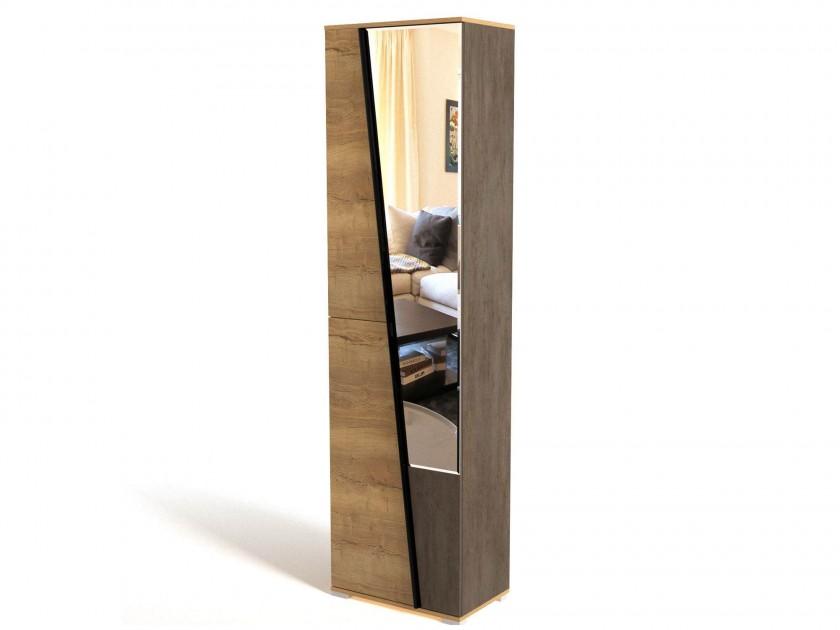распашной шкаф Шкаф для одежды с зеркалом и полками Стреза Стреза
