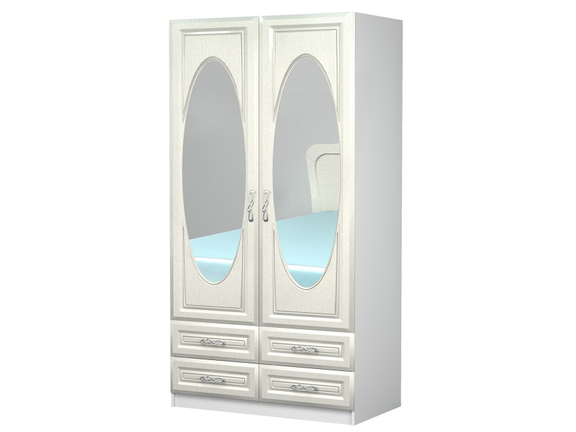 распашной шкаф Шкаф двухстворчатый Жемчуг Шкаф двухстворчатый Жемчуг