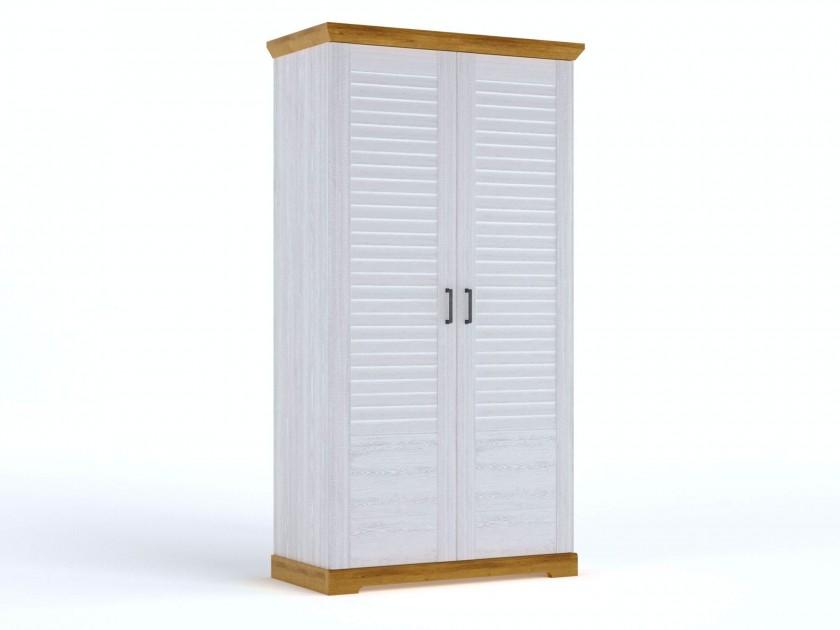 распашной шкаф Шкаф для одежды 2-х дверный Кантри Кантри в цвете Орех Рибек натуральный