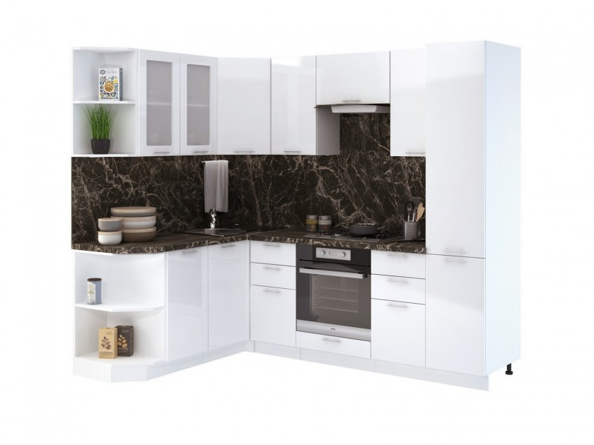 кухонный гарнитур Кухня угловая Валерия М Валерия М Цвет каркаса Белый