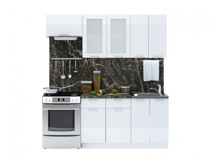 кухонный гарнитур Кухня Валерия М 2000 Валерия М Цвет каркаса Белый