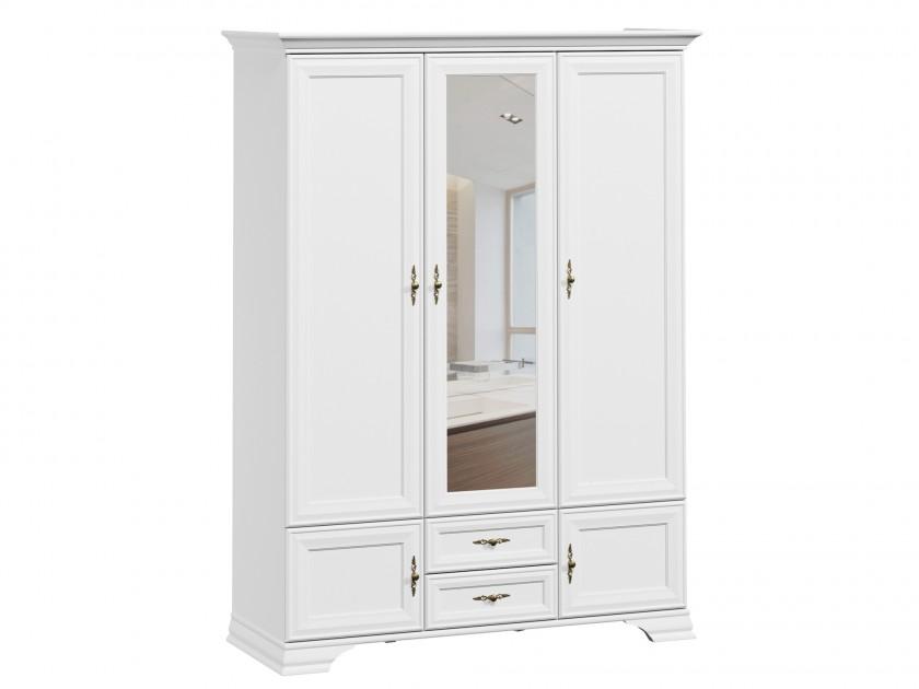 распашной шкаф Шкаф 3-х дверный Кентаки Кентаки Белый