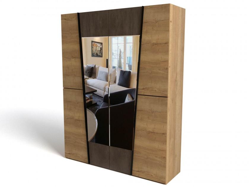распашной шкаф Шкаф 4-х дверный Стреза Стреза шкаф распашной нк мебель прага шкаф 4 х дверный 72030103