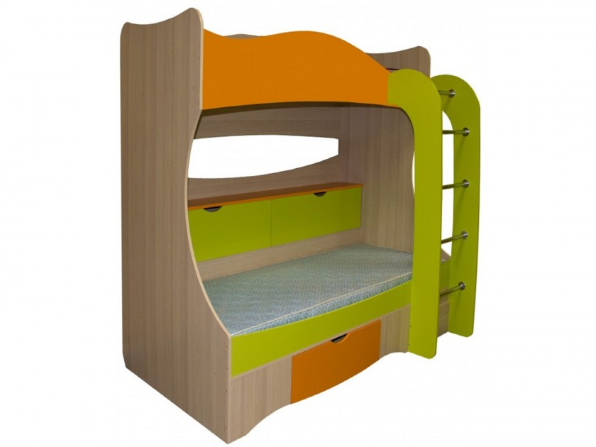 цена на кровать Кровать двухъярусная Незнайка (80x200) Кровать двухъярусная Незнайка (80x200)
