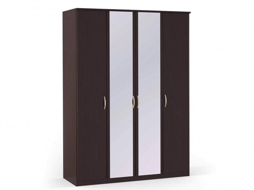распашной шкаф Шкаф платяной 4-х дверный с зеркалами Концепт Концепт Дуб темный шкаф платяной 2 х дверный с зеркалами uno