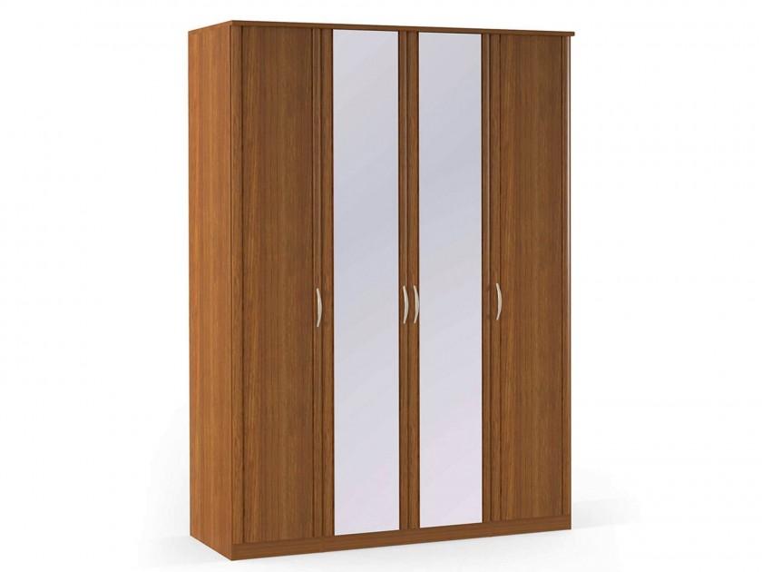 распашной шкаф Шкаф платяной 4-х дверный с зеркалами Концепт Концепт Орех Sorento шкаф платяной 2 х дверный с зеркалами uno