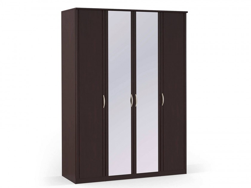 распашной шкаф Шкаф платяной 4-х дверный с зеркалами Концепт МДФ Концепт Дуб темный шкаф платяной 2 х дверный с зеркалами uno