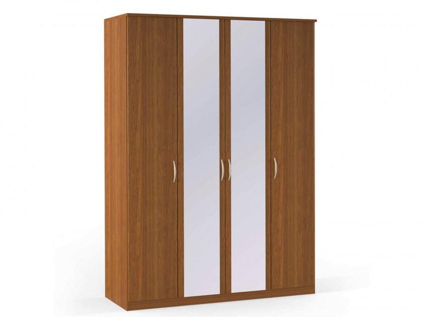 распашной шкаф Шкаф платяной 4-х дверный с зеркалами Концепт Концепт Орех Sorento