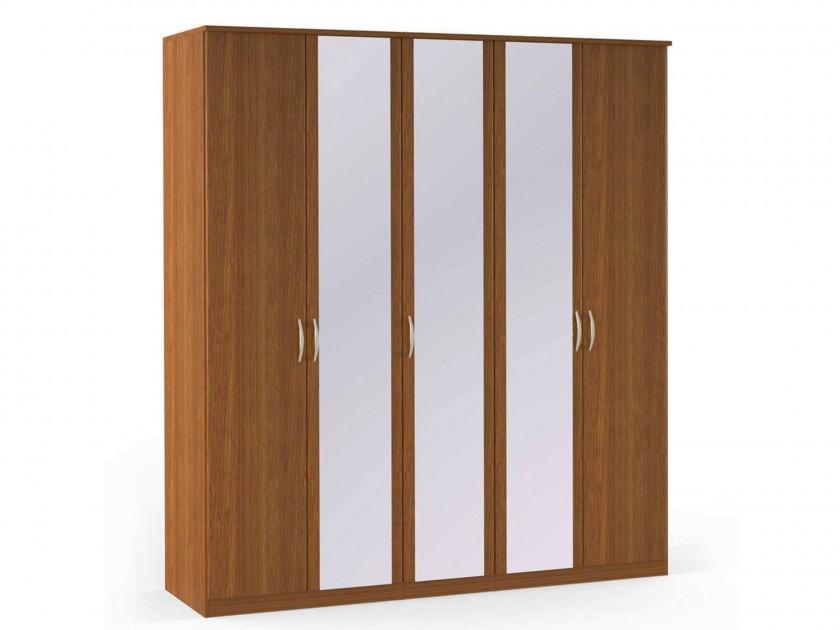 распашной шкаф Шкаф платяной 5-ти дверный с зеркалами Концепт Концепт Орех Sorento шкаф платяной 2 х дверный с зеркалами uno