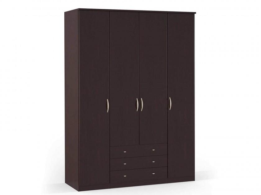 распашной шкаф Шкаф платяной 4-х дверный с ящиками Концепт Концепт Дуб темный