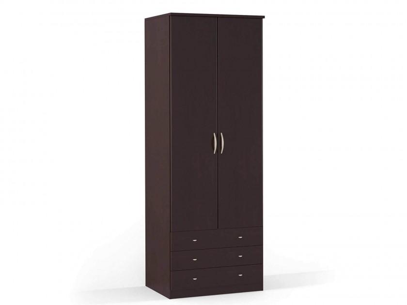 распашной шкаф Шкаф платяной 2-х дверный с ящиками Концепт Концепт Дуб темный
