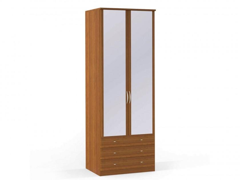 распашной шкаф Шкаф платяной 2-х дверный с ящиками и зеркалами Концепт Концепт Орех Sorento шкаф платяной 2 х дверный с зеркалами uno
