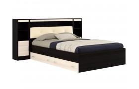 Кровать с пб, ящиками, тумбами и матрасом ГОСТ Виктория ЭКО-(1