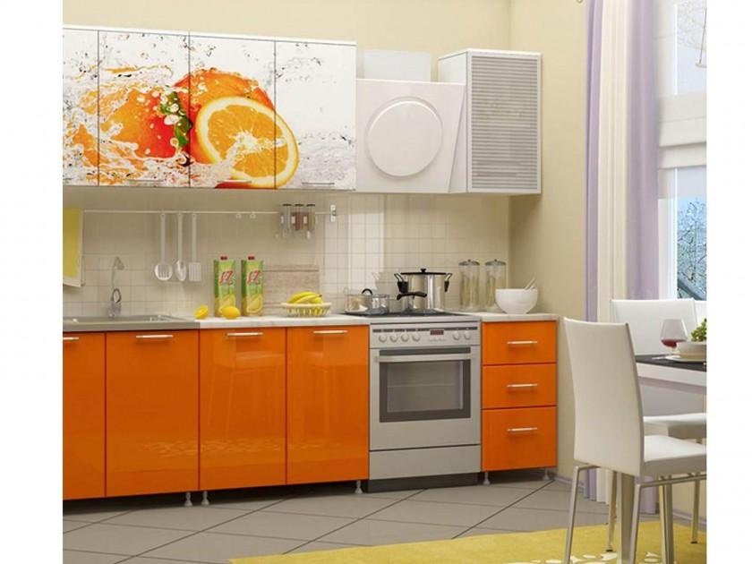 кухонный гарнитур Кухня Апельсин 2000 Фотопечать
