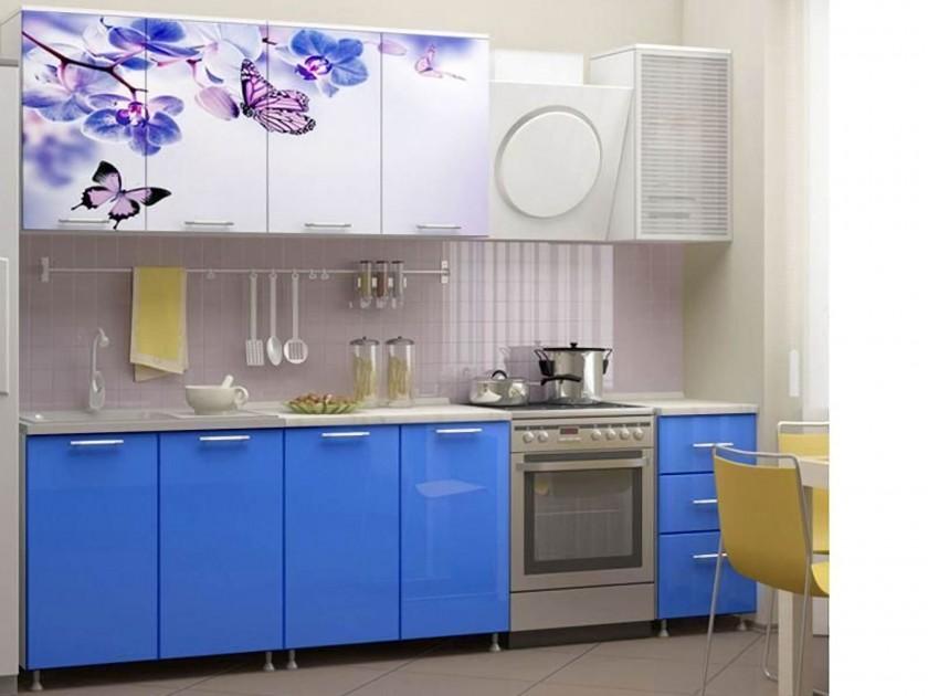 кухонный гарнитур Кухня Бабочки 2000 Фотопечать