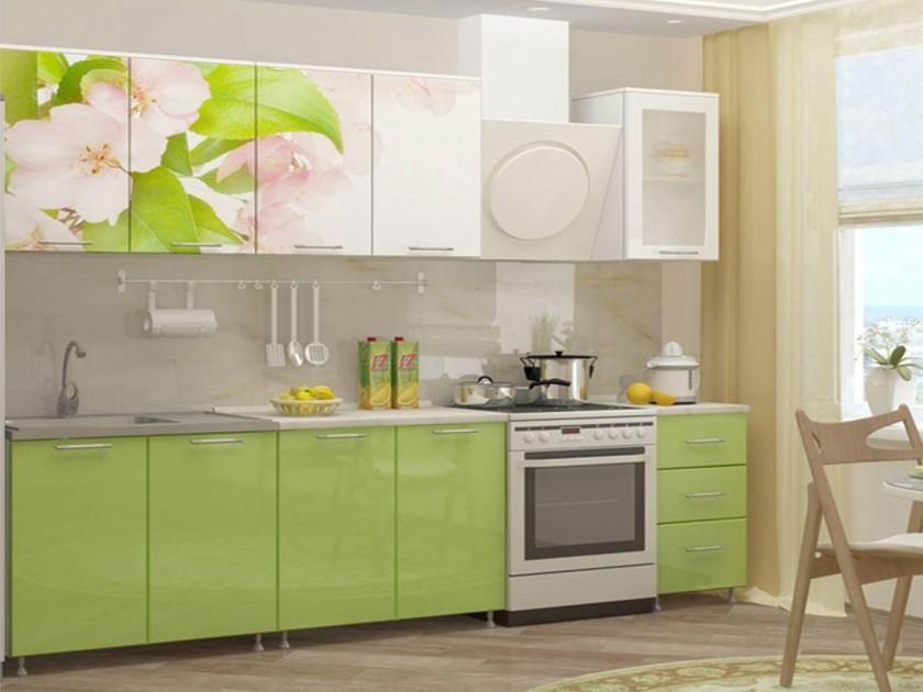 Кухня Яблоневый цвет 2000 Фотопечать недорого