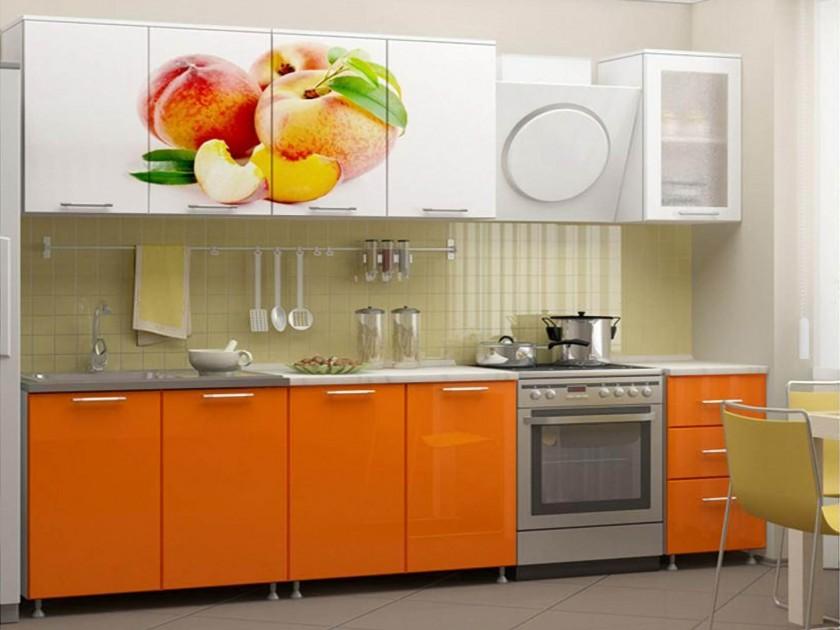 кухонный гарнитур Кухня Персик 2000 Фотопечать