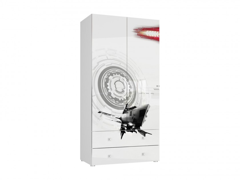 распашной шкаф Шкаф 2-х дверный с ящиками Модерн-Техно Модерн