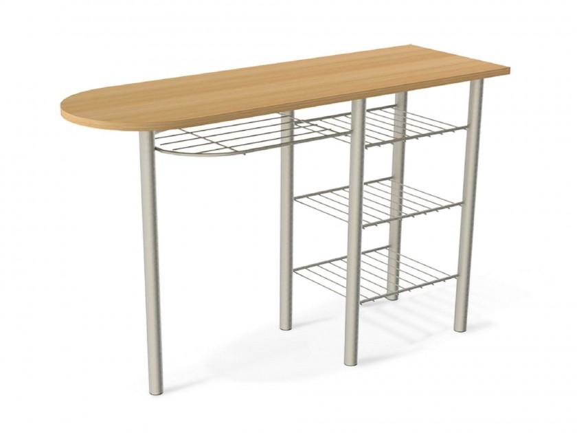 Белые столы на одной ноге для кухни