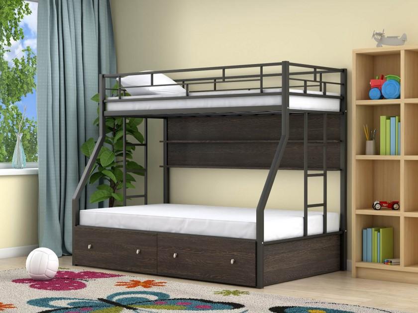 Двухъярусные кровати для детей из массива дерева