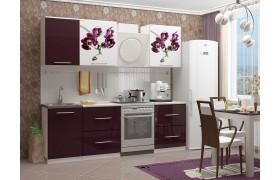 Кухонный гарнитур с фотопечатью Орхидея 1